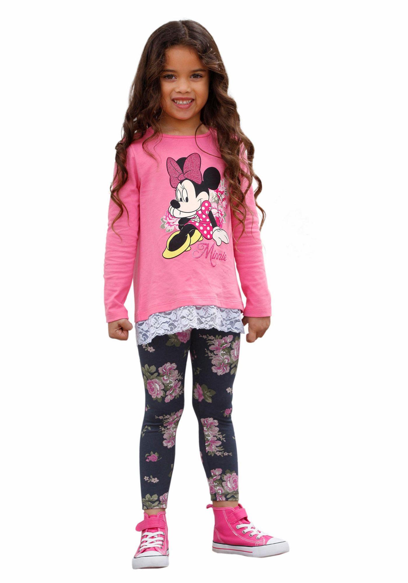 DISNEY Disney Langarmshirt & Leggings (Set, 2 tlg.)