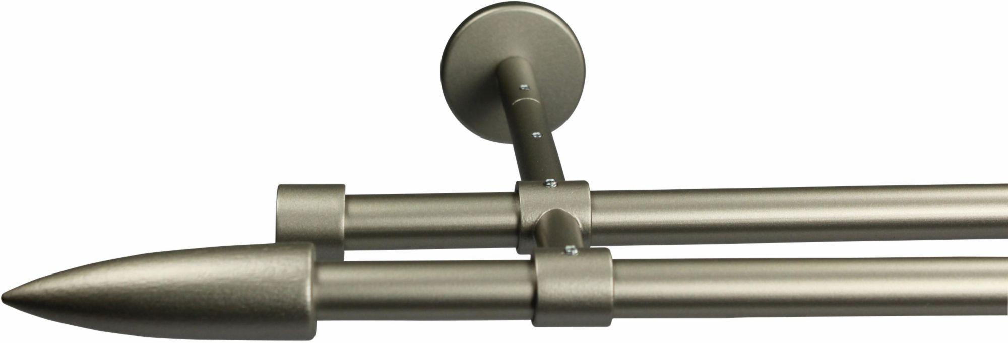 GARESA Gardinenstange 16 mm Speedy, ohne Ringe, mit geschlossenen Träger, nach Maß