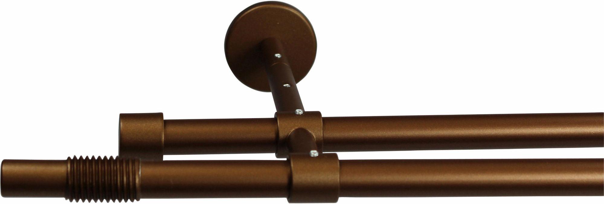 GARESA Gardinenstange 16 mm Skrufa, ohne Ringe, mit geschlossenen Träger, nach Maß