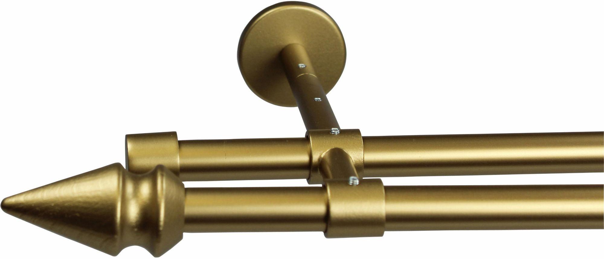 GARESA Gardinenstange 16 mm Spyrna, ohne Ringe, mit geschlossenen Träger, nach Maß