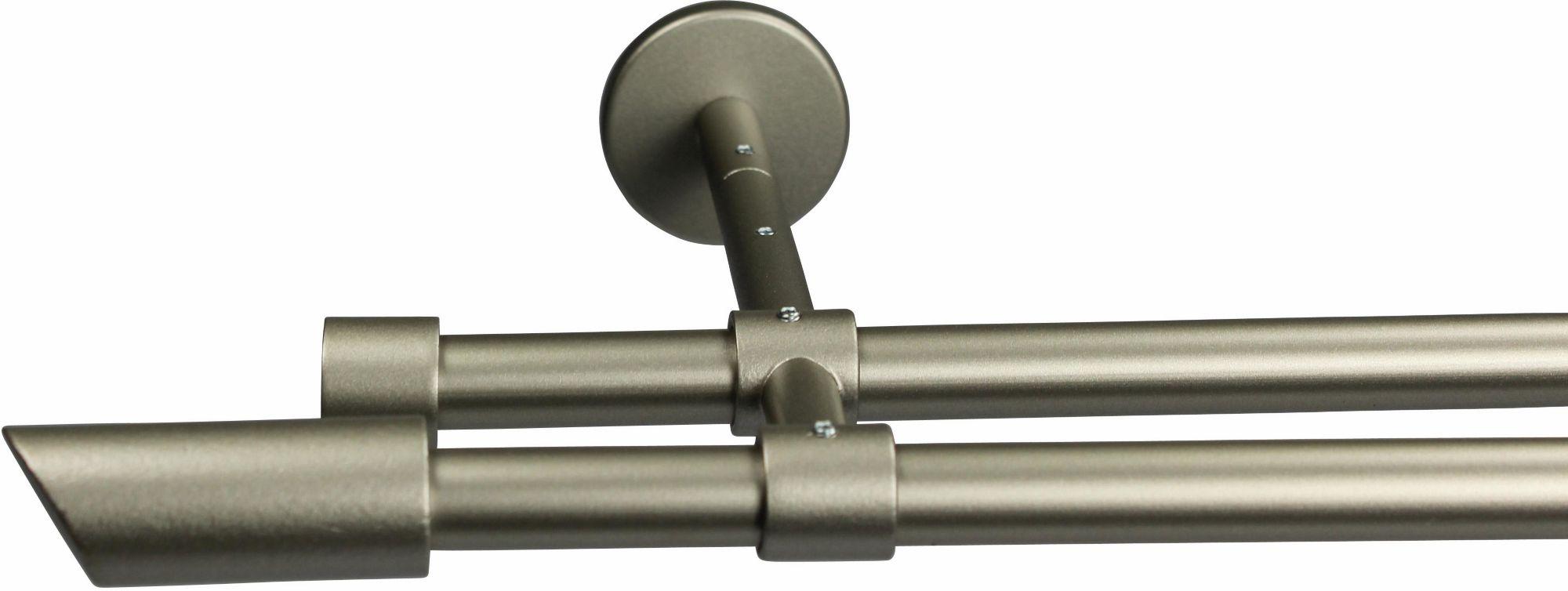 GARESA Gardinenstange 16 mm Zyli, ohne Ringe, mit geschlossenen Träger, nach Maß