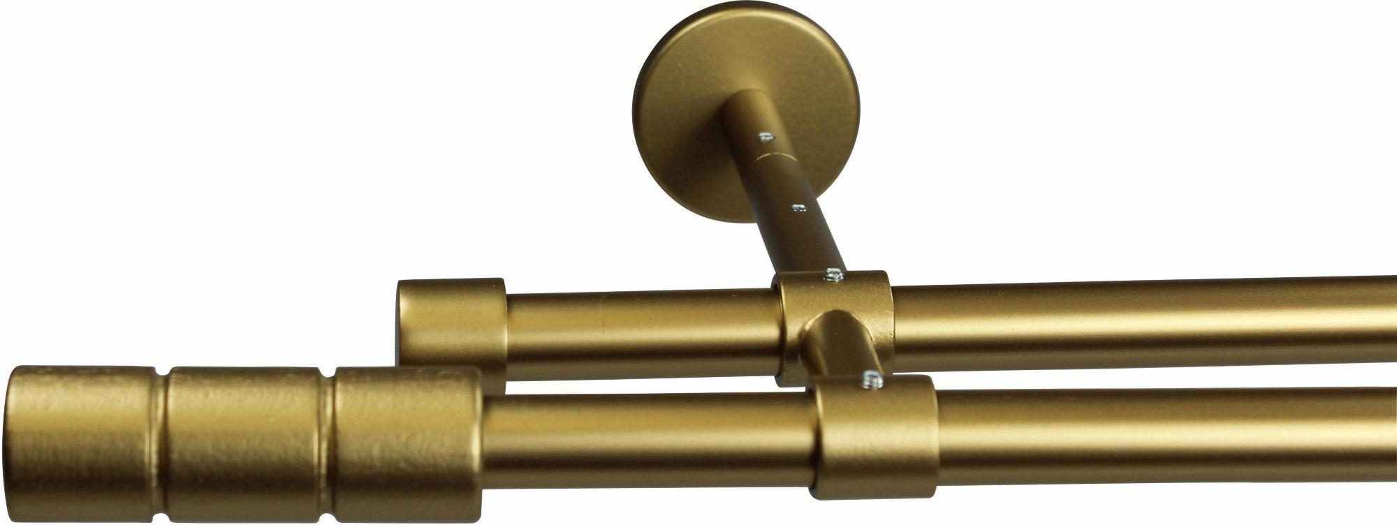 GARESA Gardinenstange 16 mm Staura, ohne Ringe, mit geschlossenen Träger, nach Maß