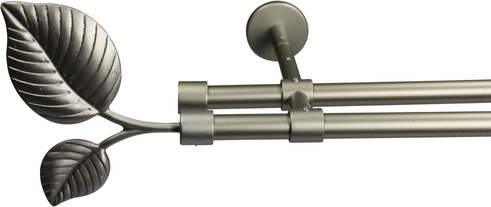 GARESA Gardinenstange 16 mm Sheet, ohne Ringe, mit geschlossenen Träger, nach Maß