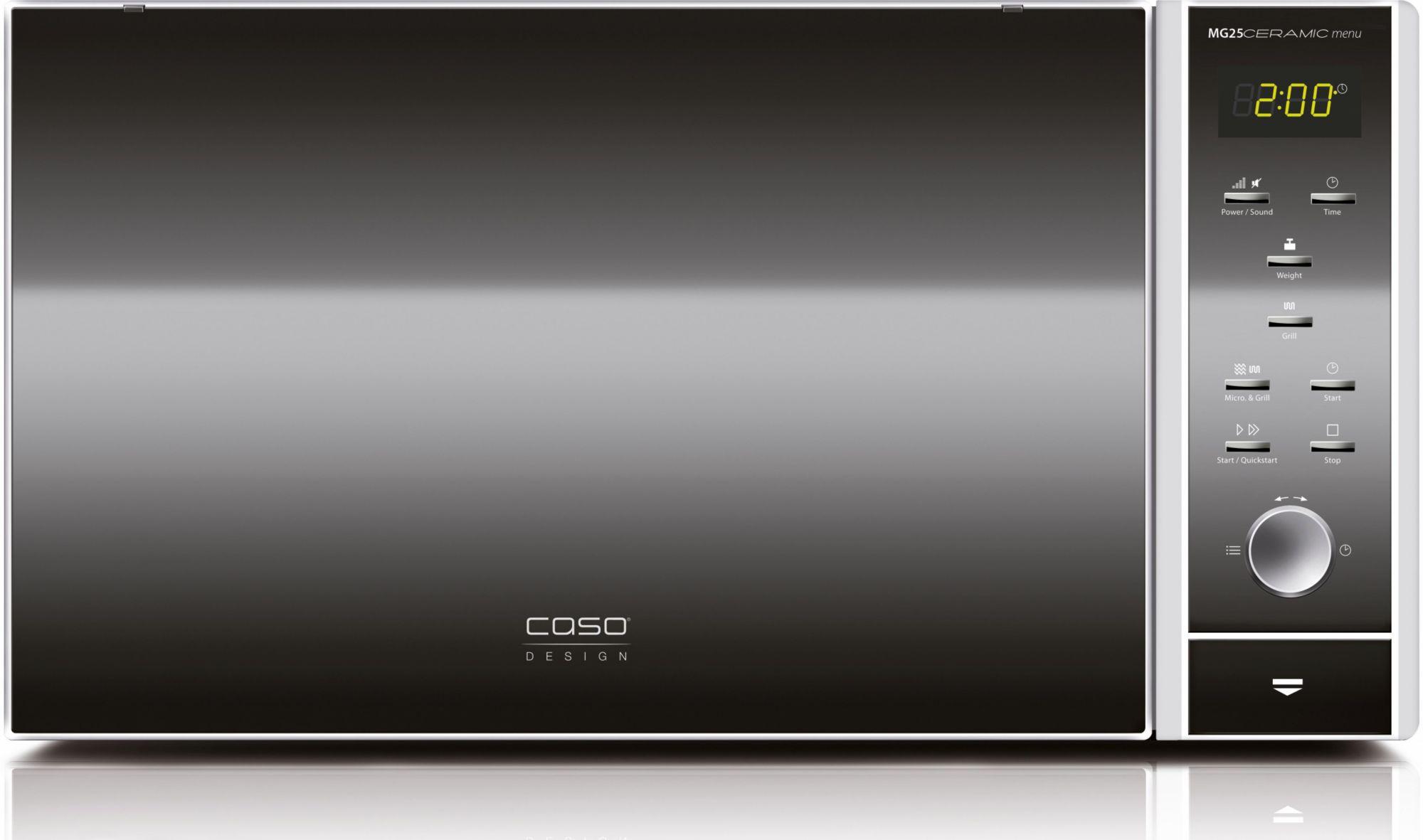 CASO DESIGN CASO Design Mikrowelle CASO MG25C menu 2in1, mit Grill, 25 Liter Garraum, 900 Watt