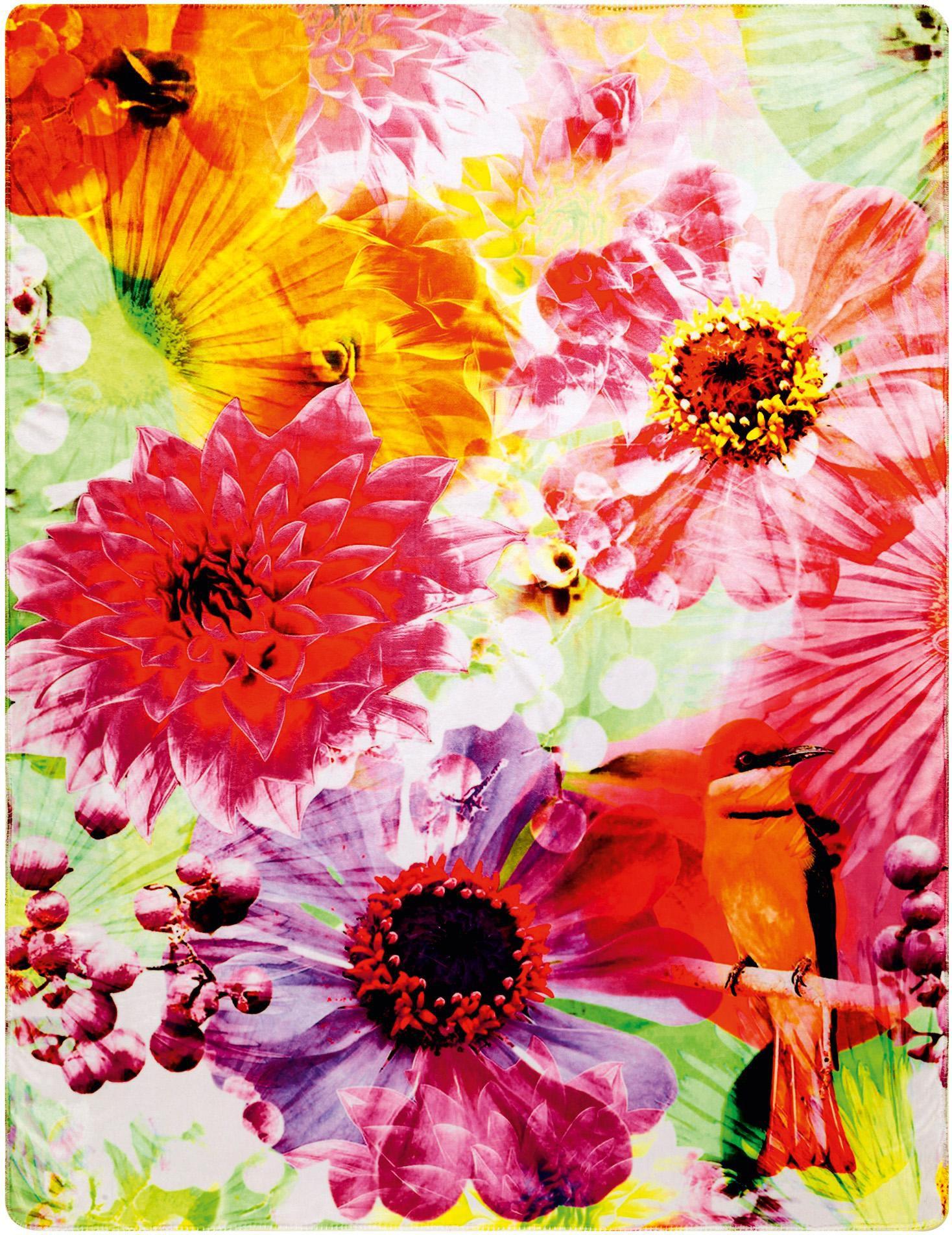 BIEDERLACK Wohndecke, Biederlack, »Bird in Paradise«, mit Blüten