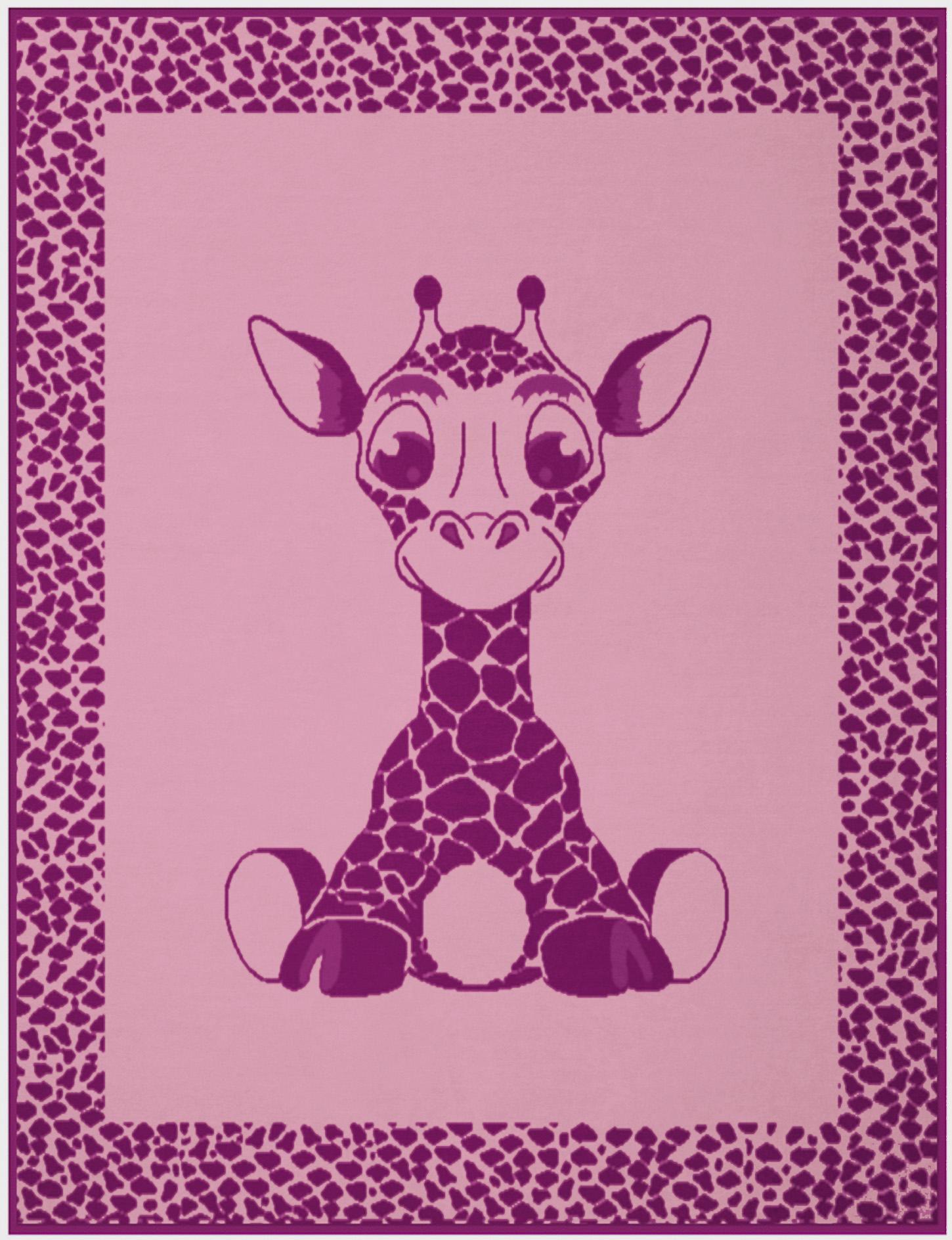 BIEDERLACK Kinderdecke, Biederlack, »Giraffe«, mit niedlichem Giraffen-Motiv