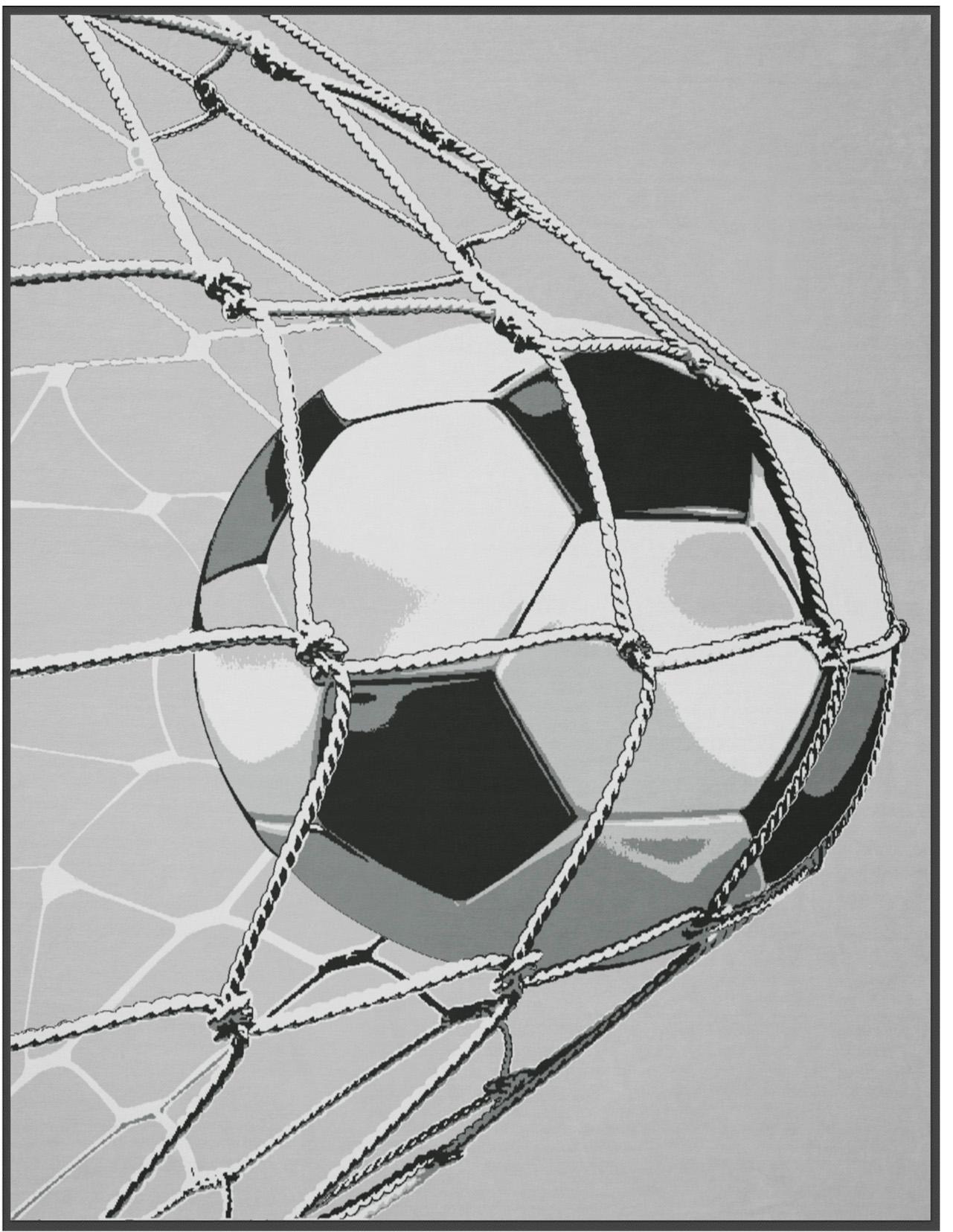 BIEDERLACK Wohndecke, Biederlack, »Goal«, mit Fußball-Motiv