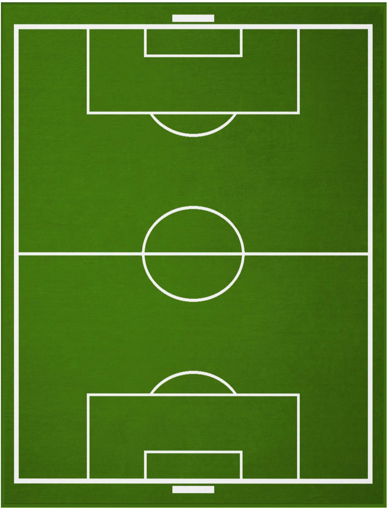 BIEDERLACK Wohndecke, Biederlack, »Fußballfeld«, mit coolem Fußballfeld-Motiv