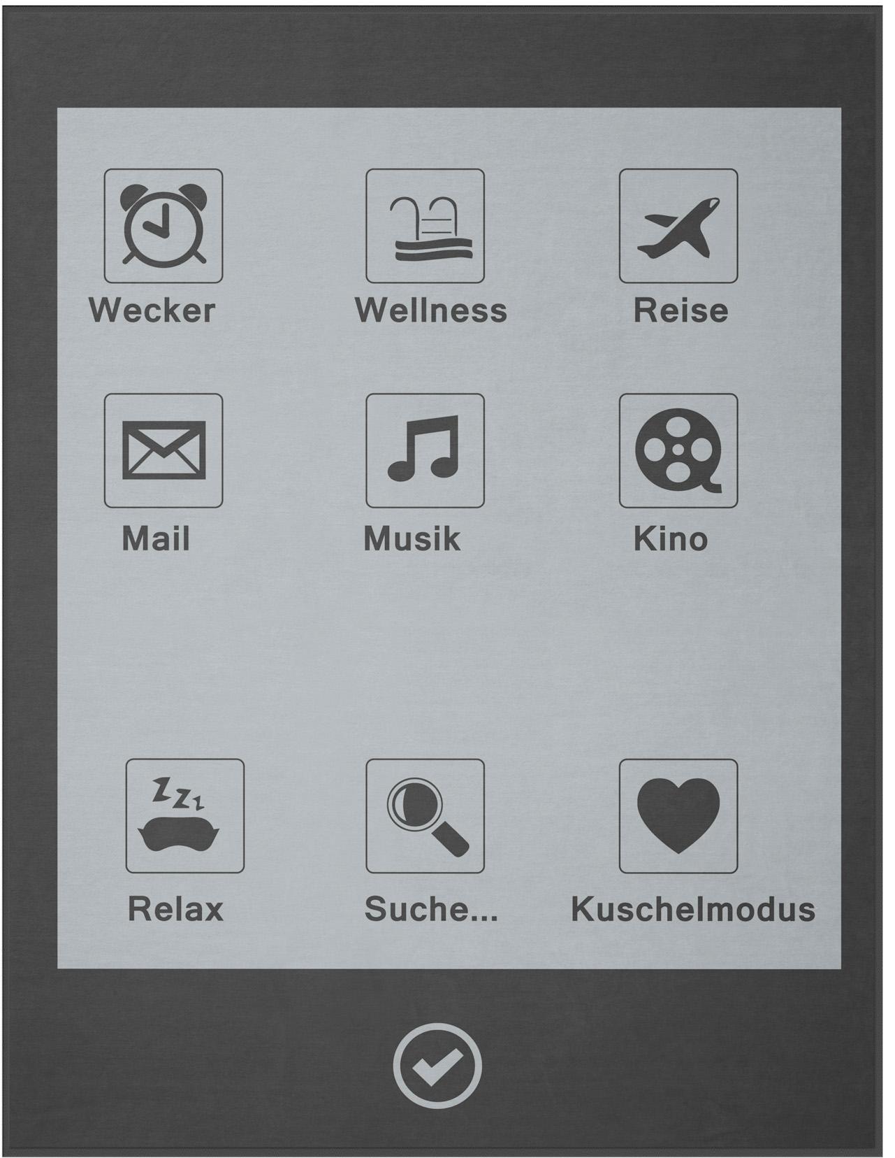 BIEDERLACK Wohndecke, Biederlack, »Display«, im trendigen Design