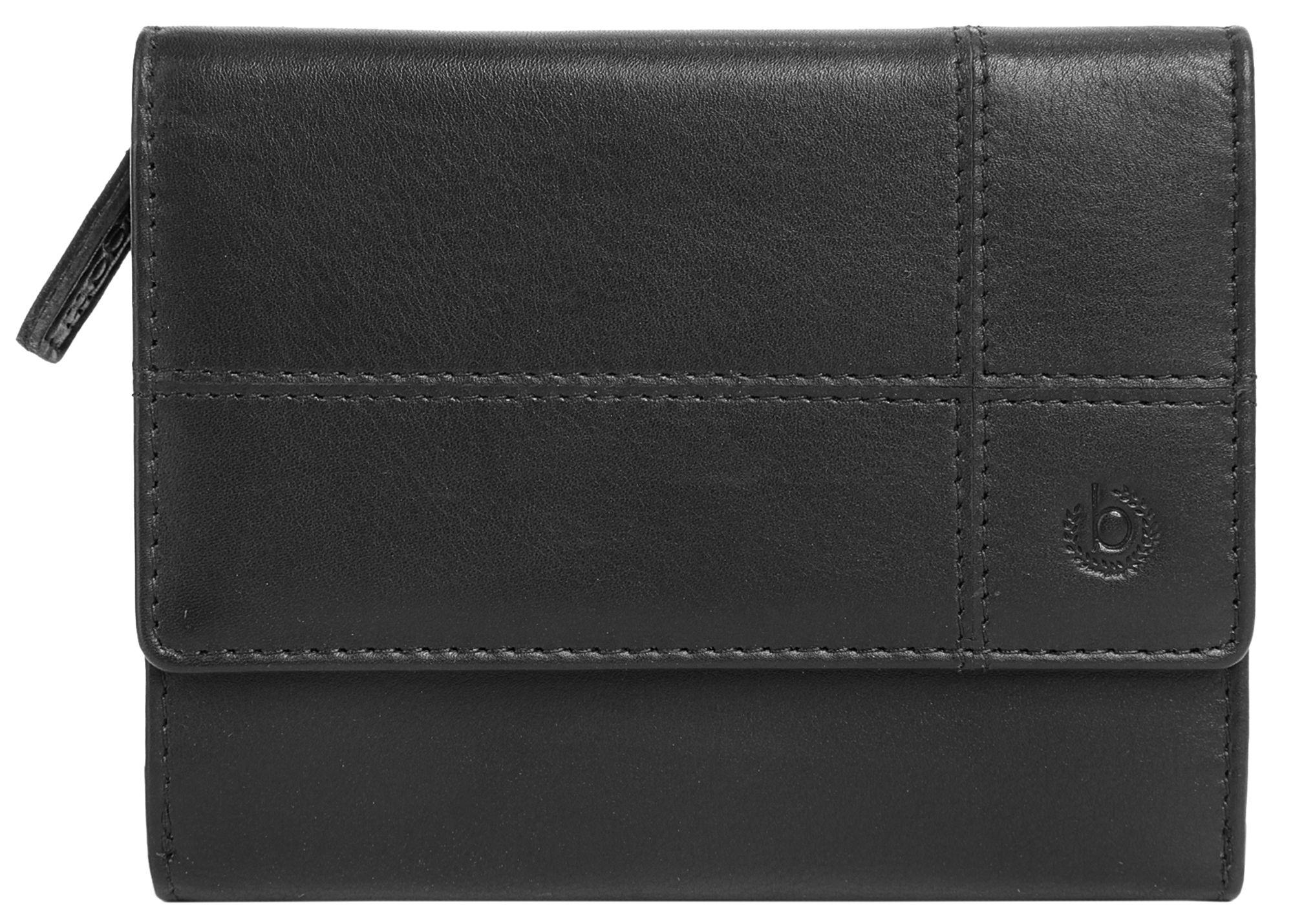 BUGATTI Bradford Geldbörse Leder 12 cm Bugatti schwarz