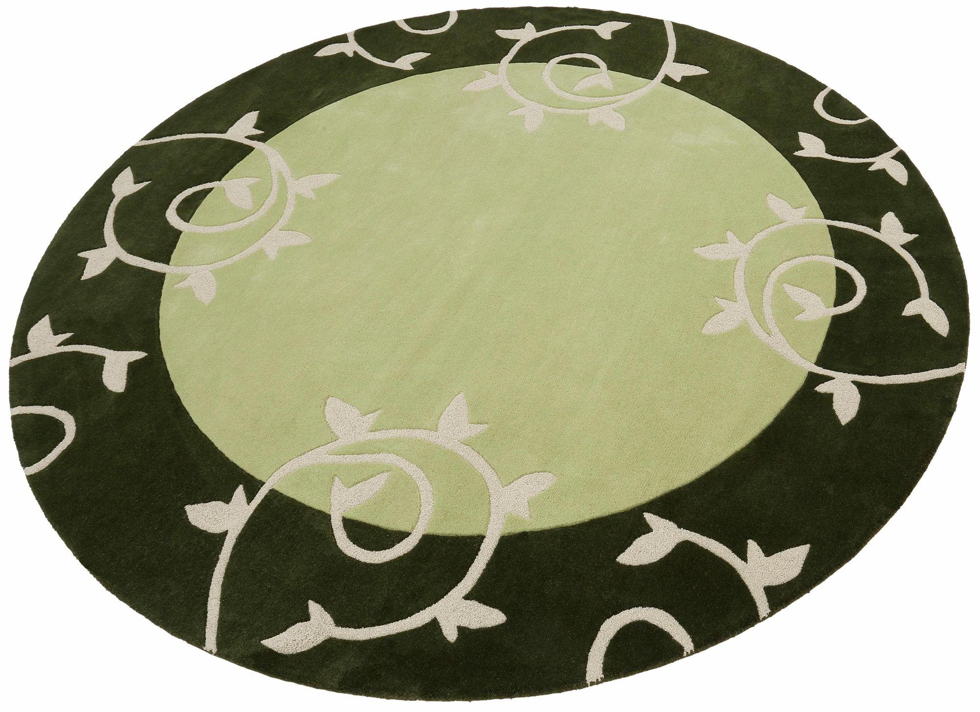 HOME AFFAIRE COLLECTION Teppich, rund, Home Affaire Collection, »Parma«, Hoch-Tief-Effekt, handgetuftet, reine Schurwolle