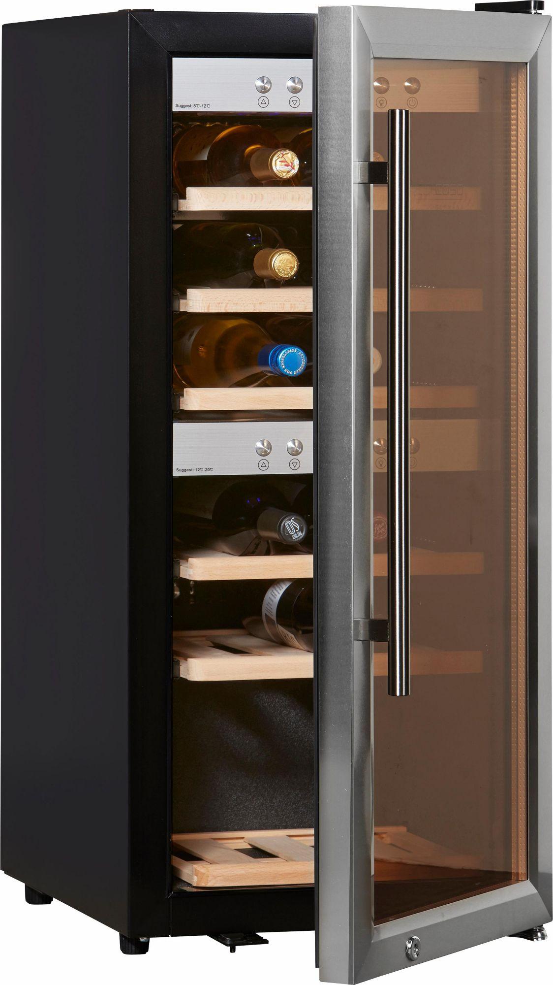 CASO DESIGN CASO Design Weinkühlschrank »WineMaster 24«, Höhe 87,5 cm, für 24 Bordeauxflaschen á 0,75l