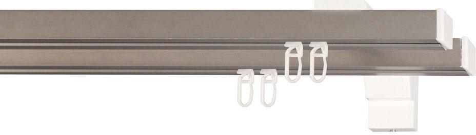 INDEKO Gardinenstange 1-, indeko, »Colmar«, 2- oder 3-läufig nach Maß, 20x20 mm mit Innenlauf