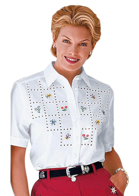 CLASSIC Classic Bluse mit Seitenschlitze