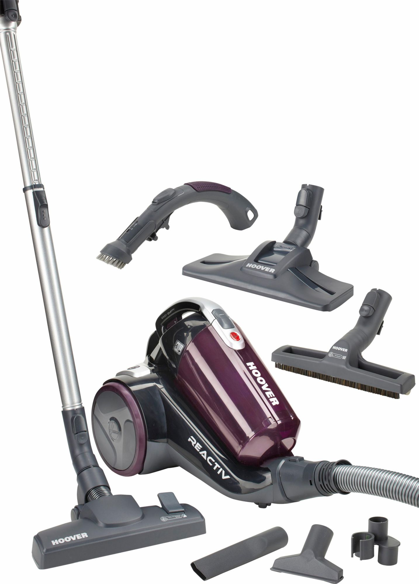 HOOVER Hoover Bodenstaubsauger Reactiv RC81_RC16, ohne Staubbeutel, Energieklasse: A