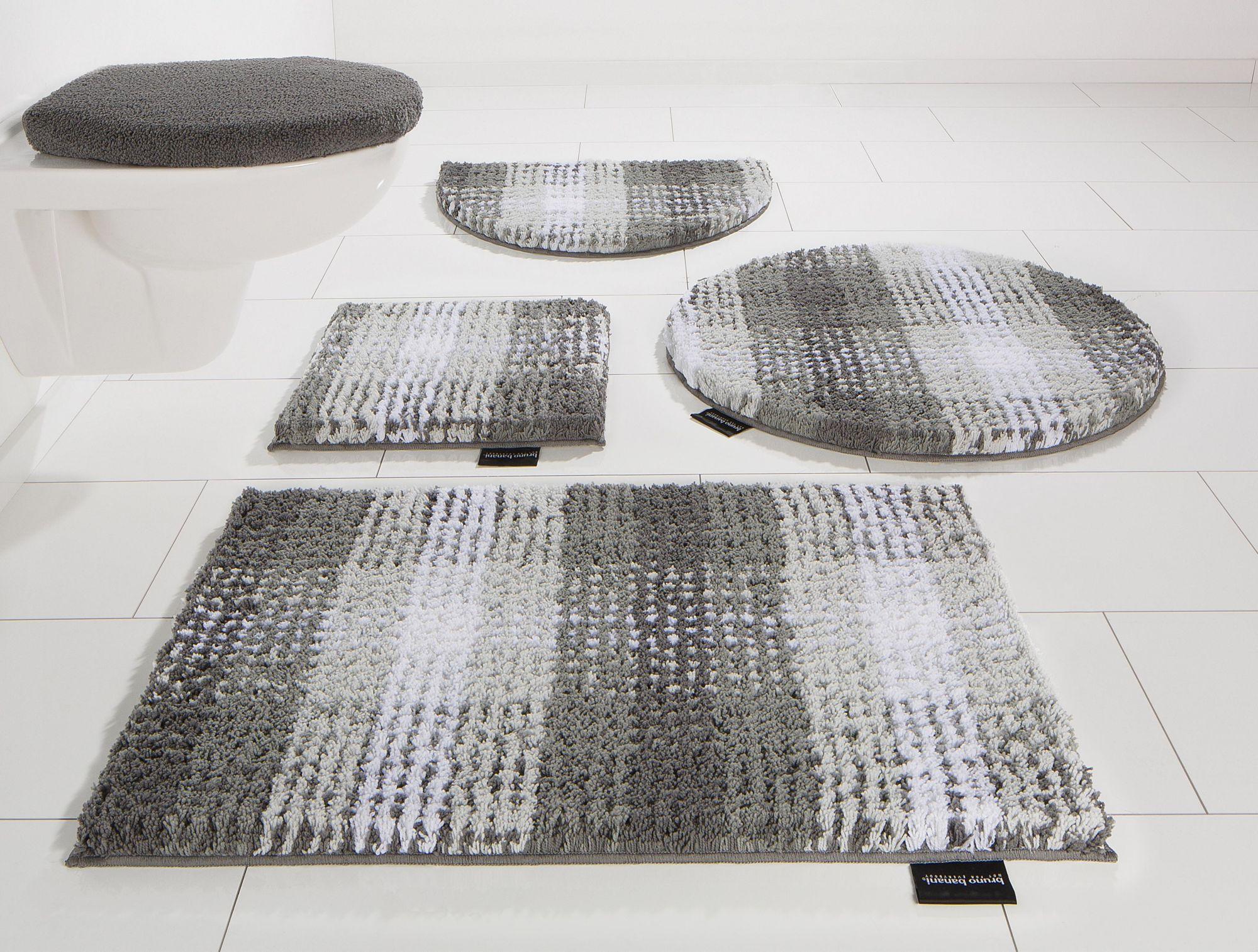 BRUNO BANANI Badematte, Rund, Bruno Banani, »Kyros«, Microfaser, Höhe 25 mm, rutschhemmender Rücken