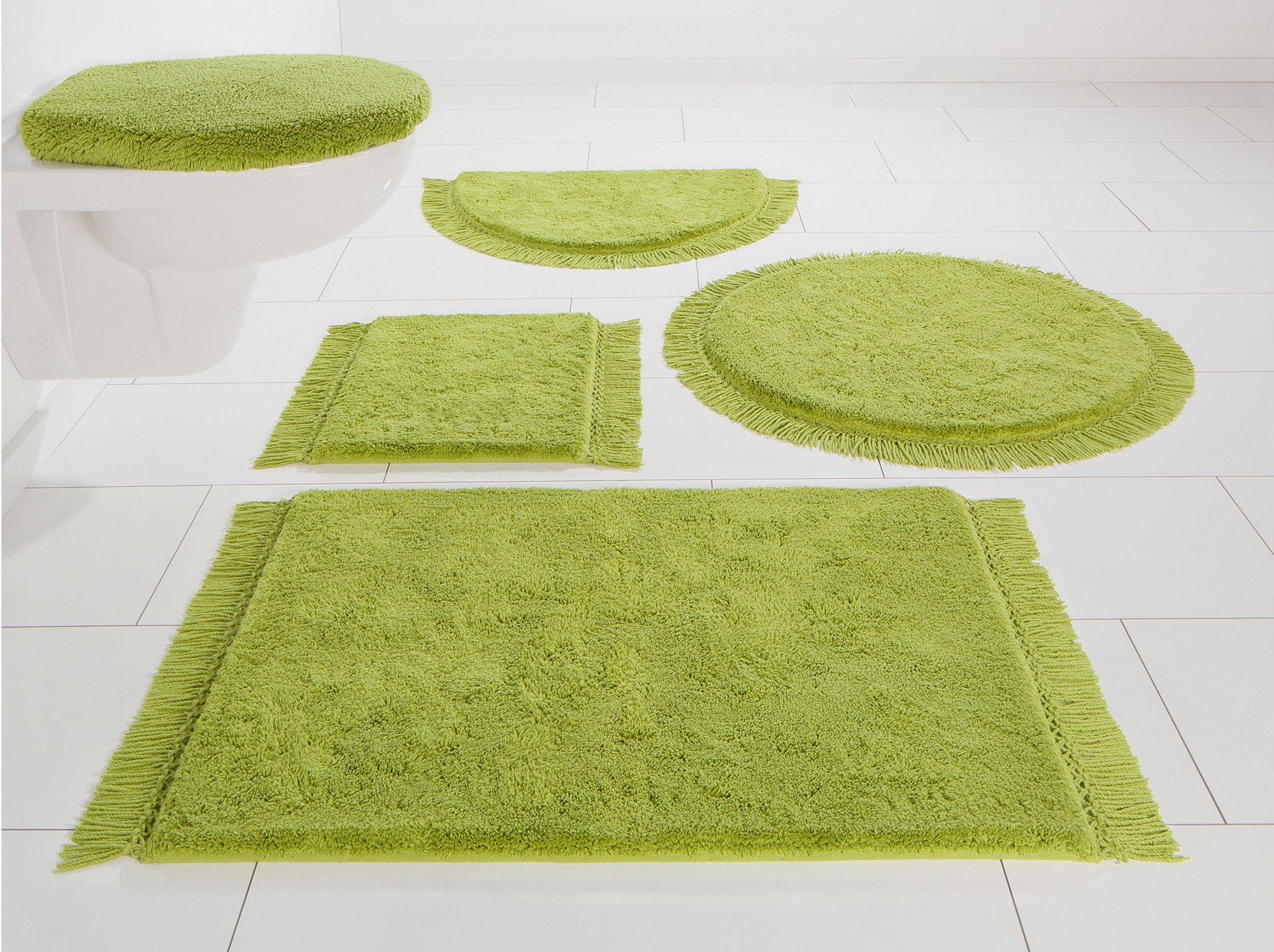 HOME AFFAIRE COLLECTION Badematte, Halbrund, Home affaire Collection, »Finca«, Bio-Baumwolle, Höhe 16 mm, rutschhemmender