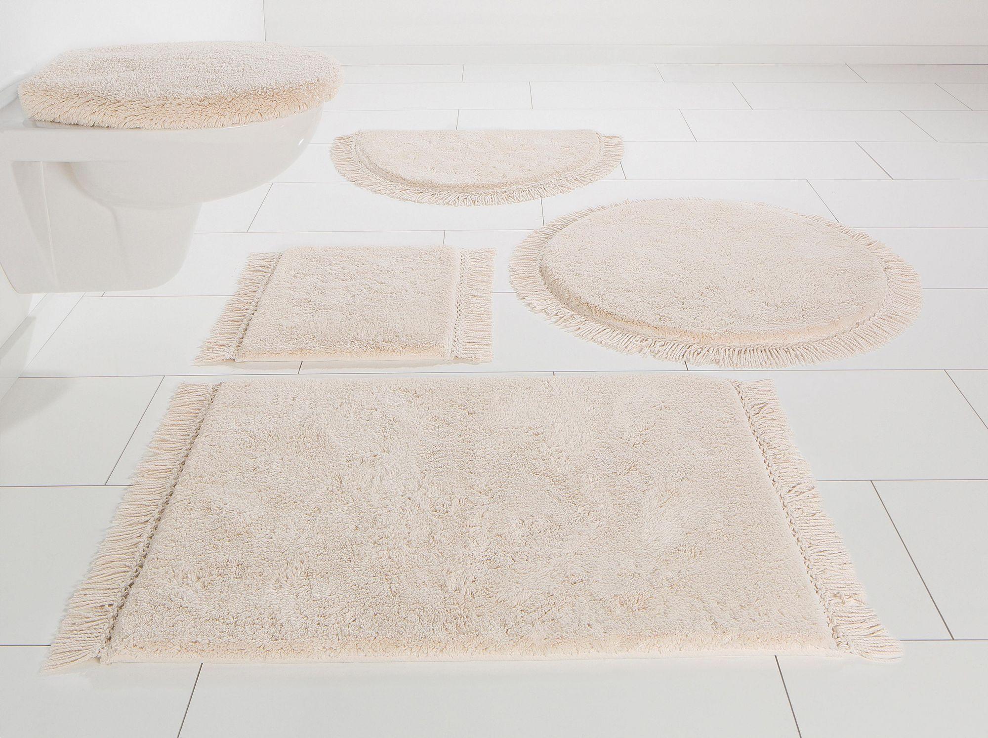 HOME AFFAIRE COLLECTION Badematte, 3-tlg. Hänge WC-Set, Home affaire Collection, »Finca«, Bio-Baumwolle, Höhe 16 mm
