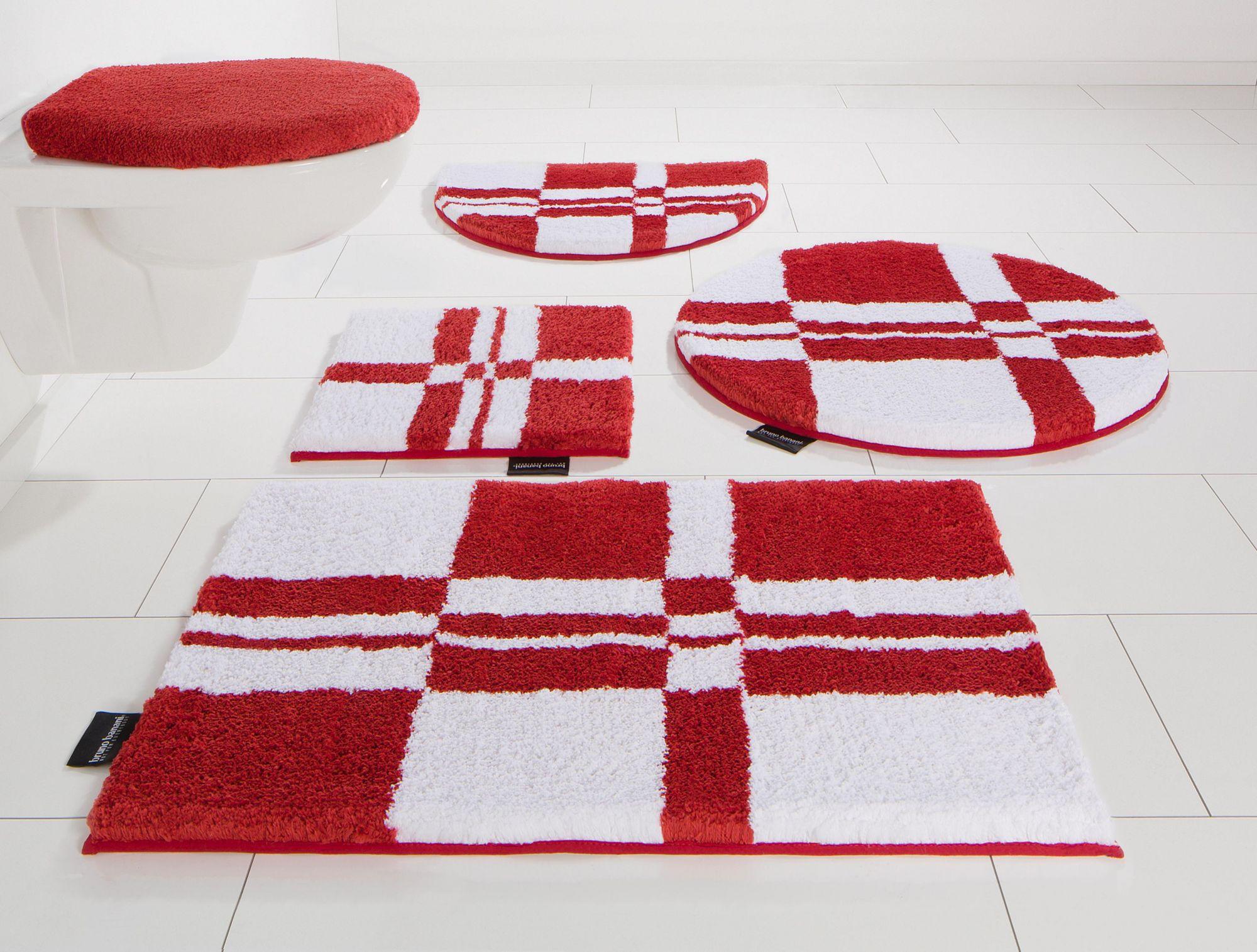 BRUNO BANANI Badematte, Stand WC-Set, Bruno Banani, »Calum«, Microfaser, Höhe 25 mm, rutschhemmender Rücken