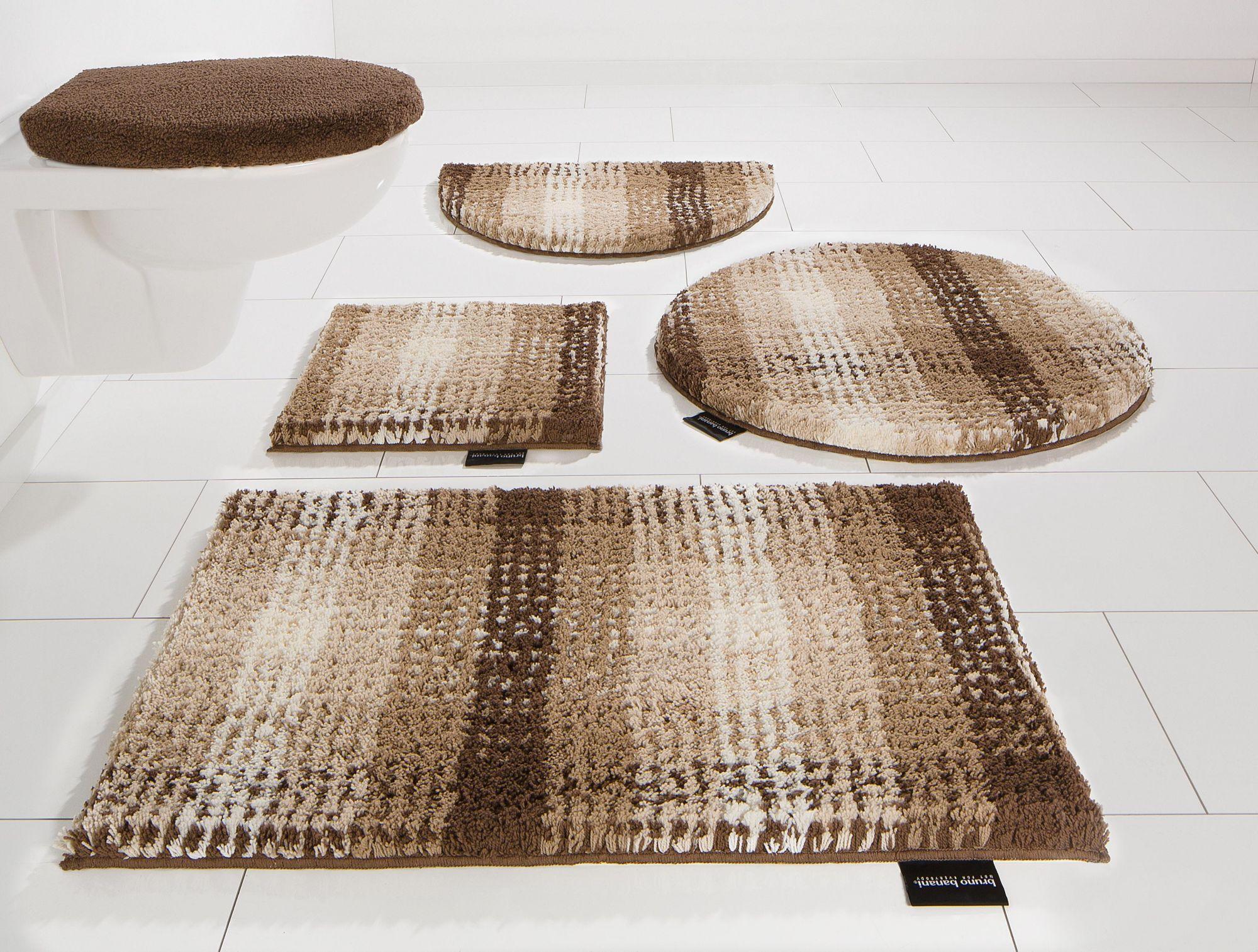BRUNO BANANI Badematte, Halbrund, Bruno Banani, »Kyros«, Microfaser, Höhe 25 mm, rutschhemmender Rücken