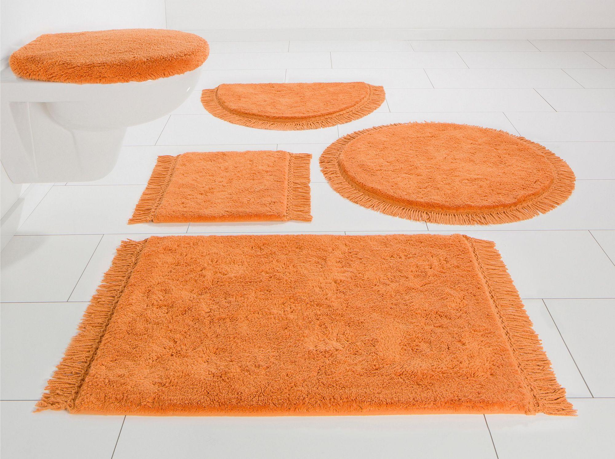 HOME AFFAIRE COLLECTION Badematte, Rund, Home affaire Collection, »Finca«, Bio-Baumwolle, Höhe 16 mm, rutschhemmender Rü
