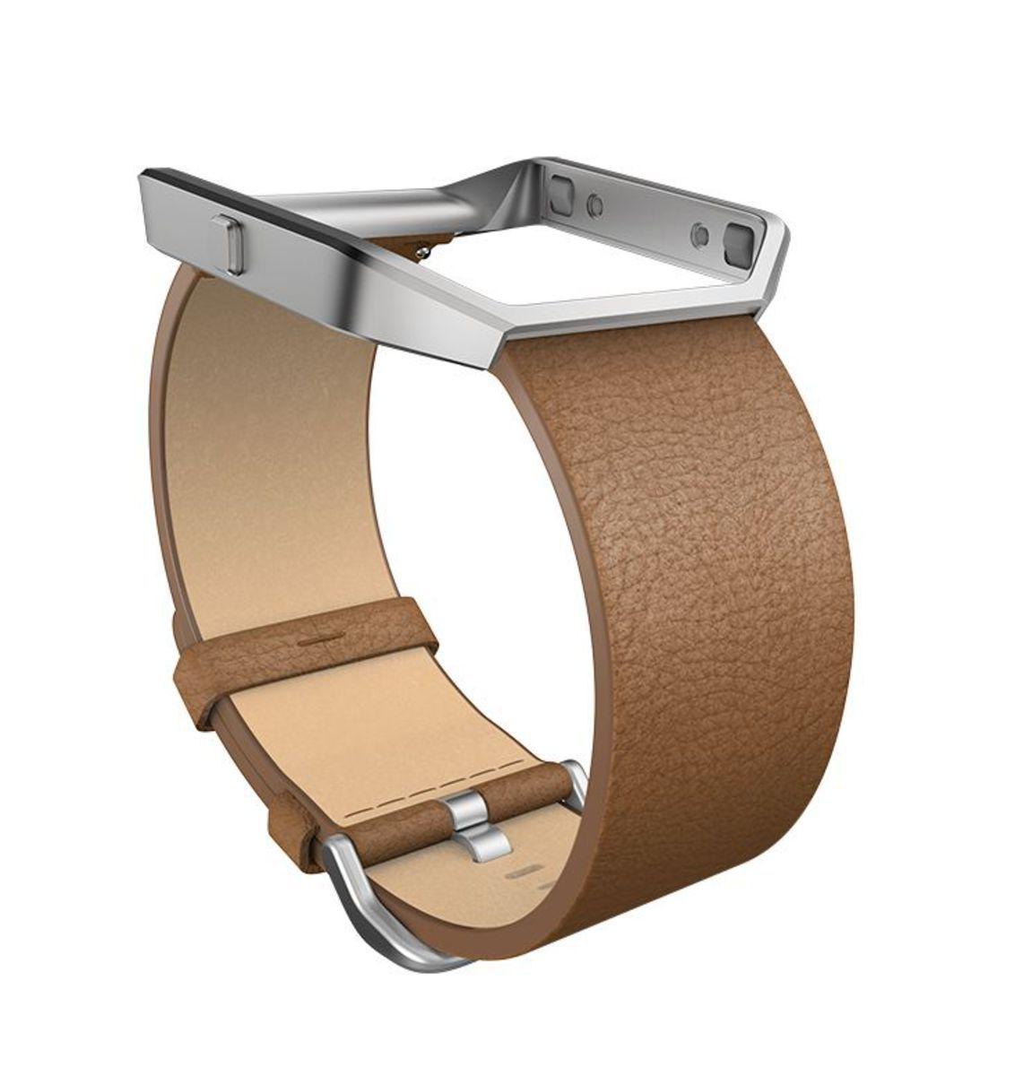 FITBIT fitbit Ersatz-/Wechselarmband »Leder Armband für BLAZE in Größe L«
