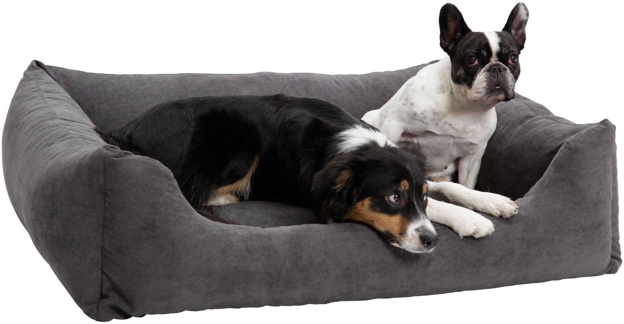 DOGS IN THE CITY Hundebett und Katzenbett »Madison«, B/T/H: 90/70/30 cm, Anthrazit