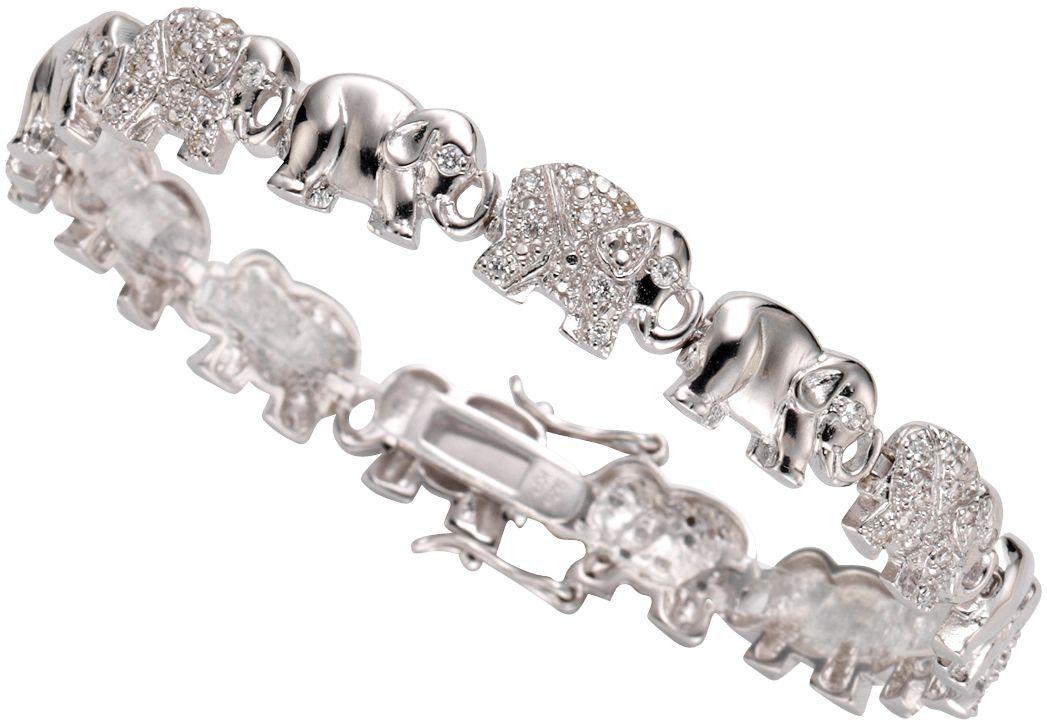 FIRETTI firetti Armband »Elefanten« mit Zirkonia