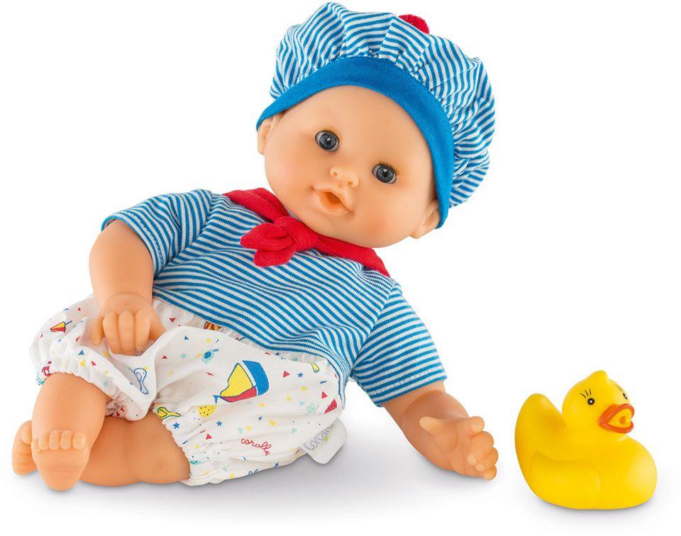 COROLLE Corolle Babypuppe mit gelber Quietscheente, »Badepuppe Mädchen maritim 30cm«