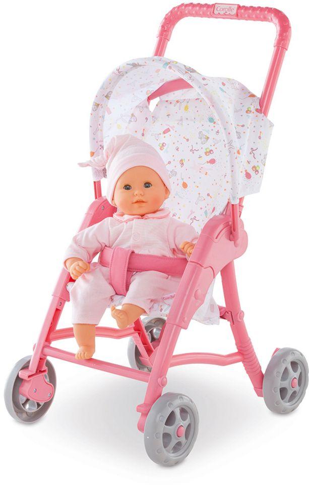 COROLLE Corolle Puppenwagen mit Sonnenverdeck, »Sitzbuggy Mon Premier 30cm rosa«