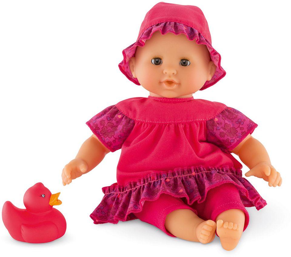 COROLLE Corolle Babypuppe mit pinker Quietscheente, »Badepuppe Mädchen Erdbeere 30cm«