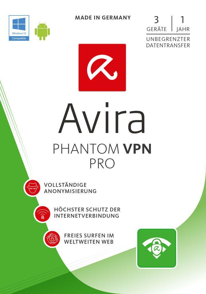 AVIRA Avira Software »Avira Phantom VPN Pro - 1 User/3 Geräte/1 Jahr«