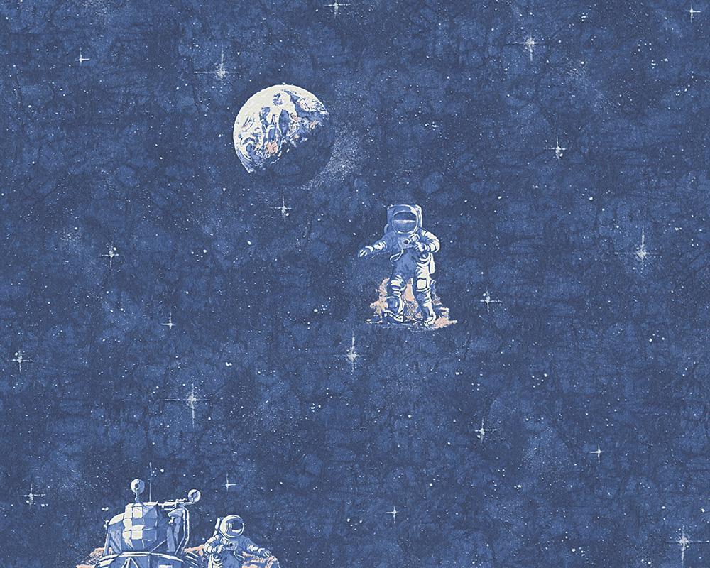 LIVINGWALLS A.S. Creation Papiertapete Boys & Girls 5 Astronaut Blau