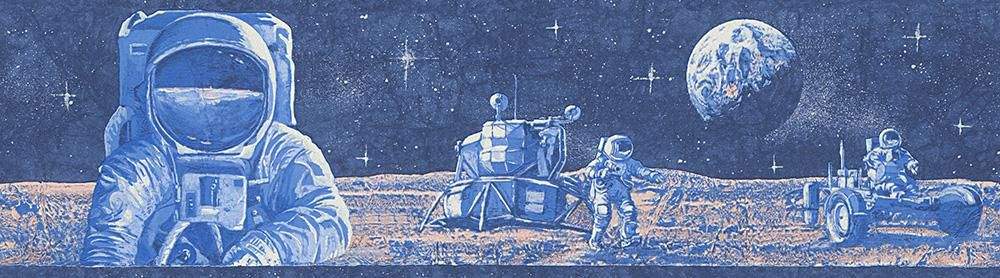 LIVINGWALLS A.S. Creation Papiertapete Boys & Girls 5 Borte Astronaut Blau
