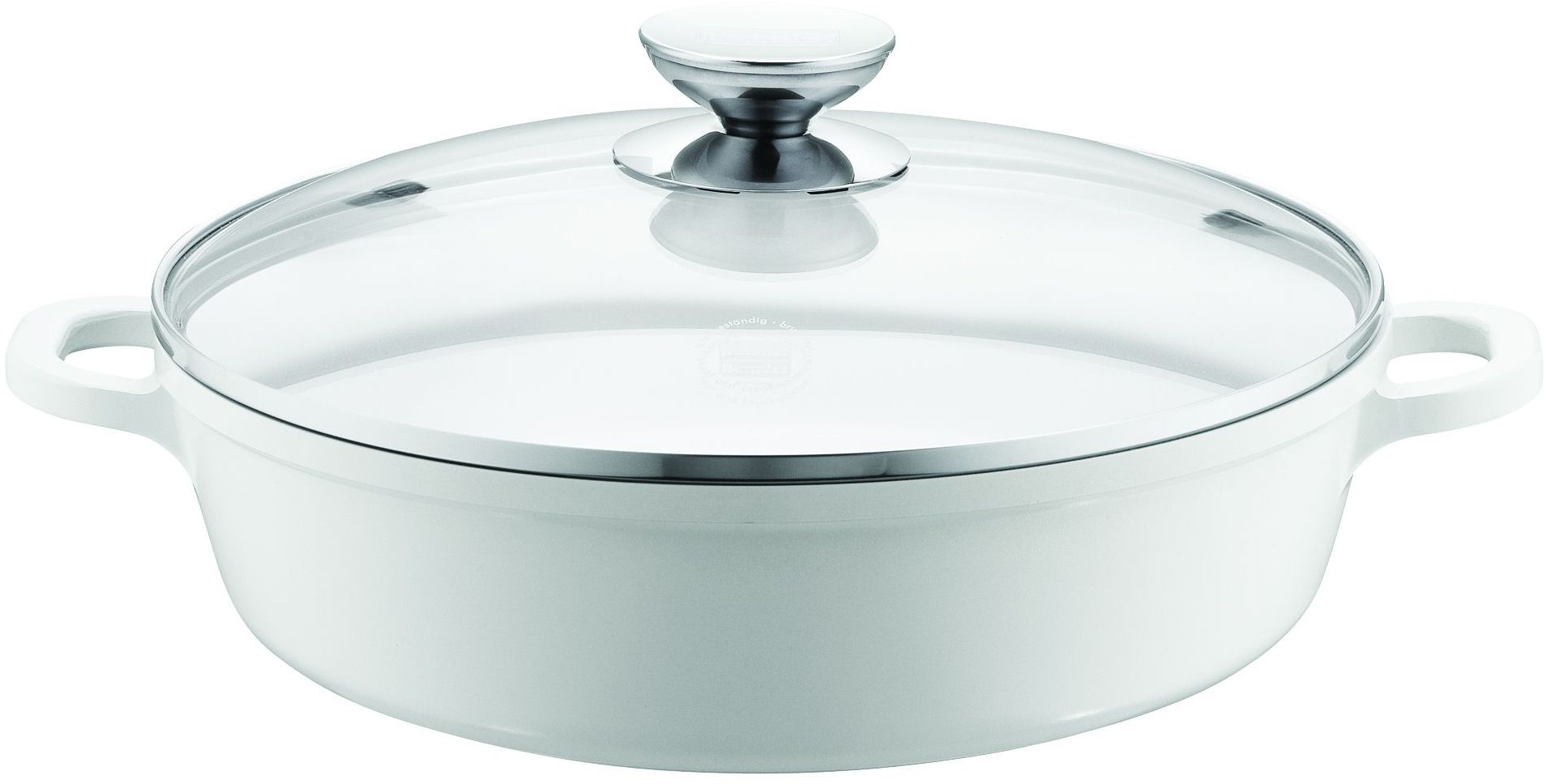 BERNDES Berndes Schmorkasserolle mit Glasdeckel, Aluguss, Induktion, 32 cm, »VARIO CLICK INDUCTION WHITE«