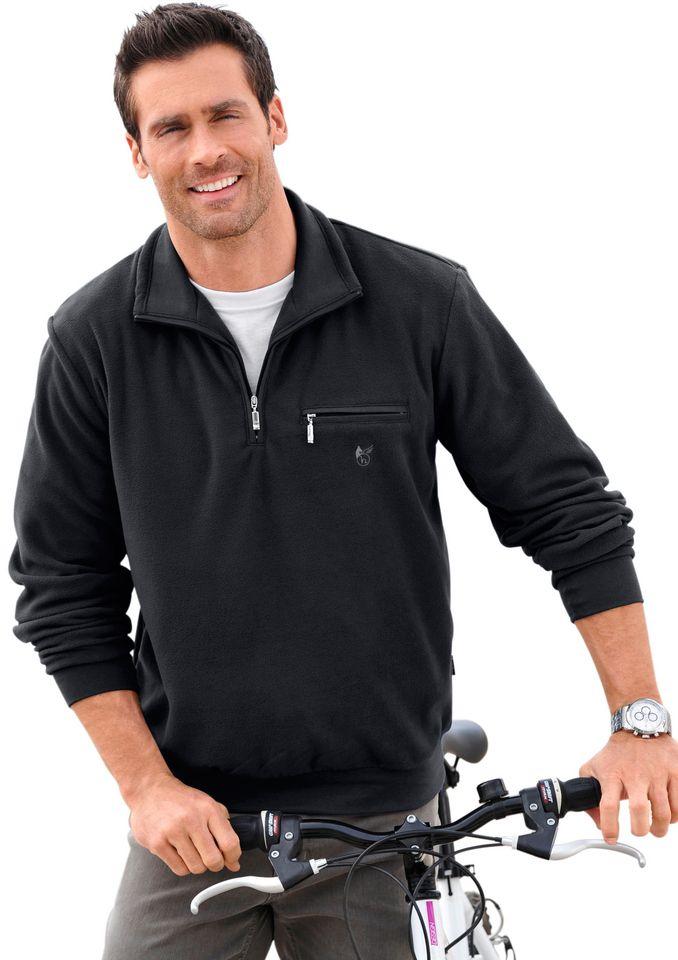 HAJO Hajo Fleece-Shirt mit Troyerkragen