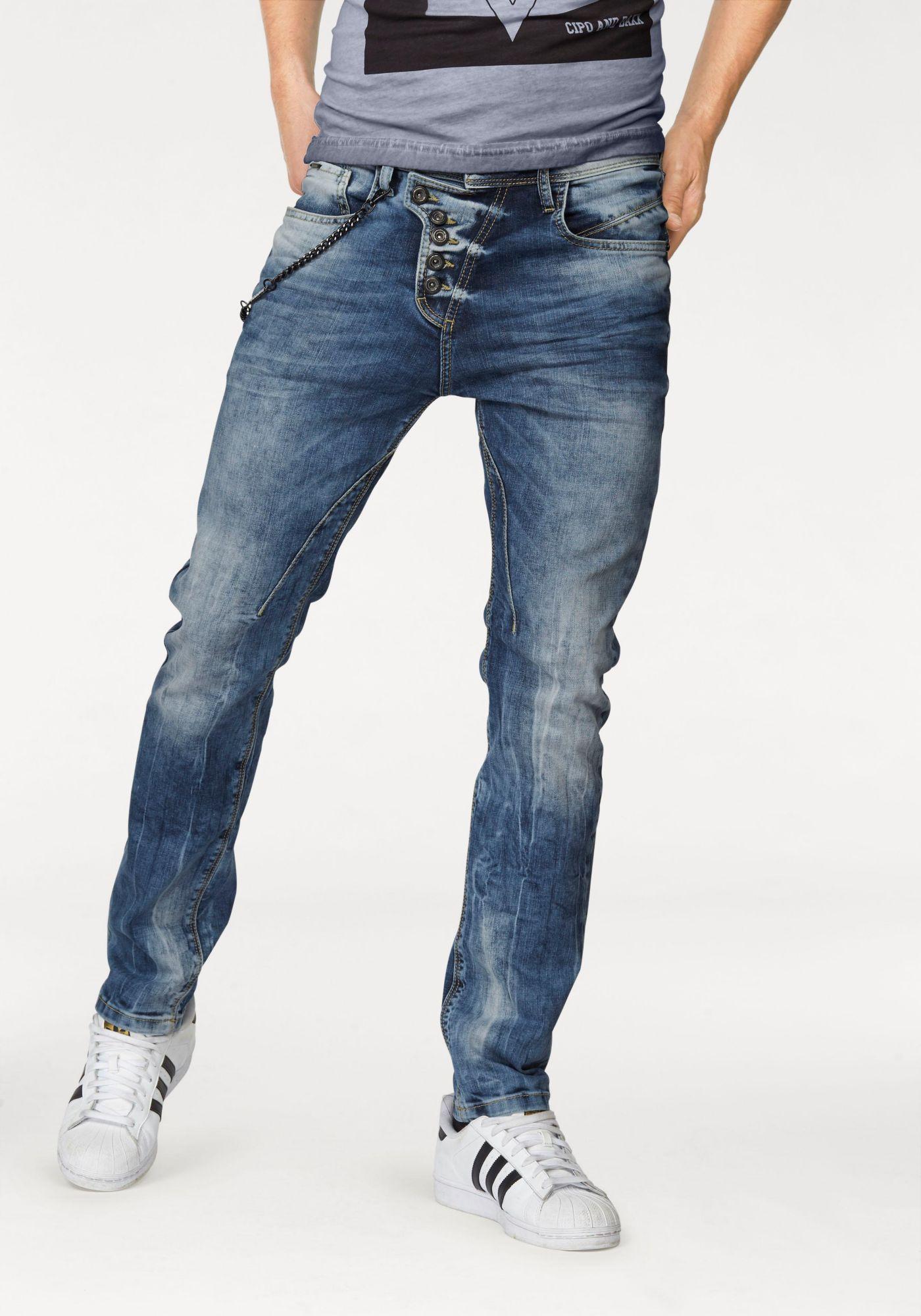 CIPO BAXX Cipo & Baxx Slim-fit-Jeans (Set, mit Hosenkette)