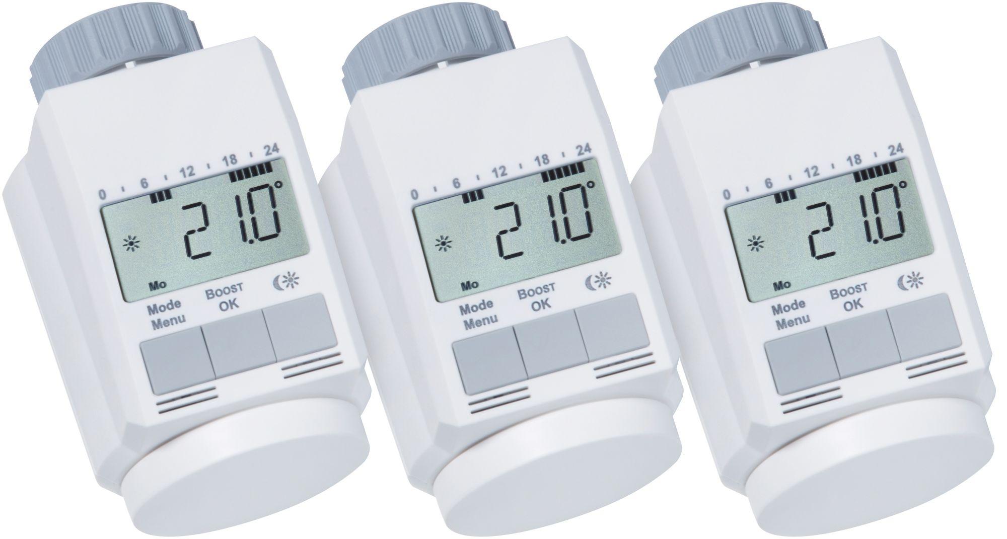 EQIVA Sparset: Heizkörperthermostat »Classic L, 3 Stück«