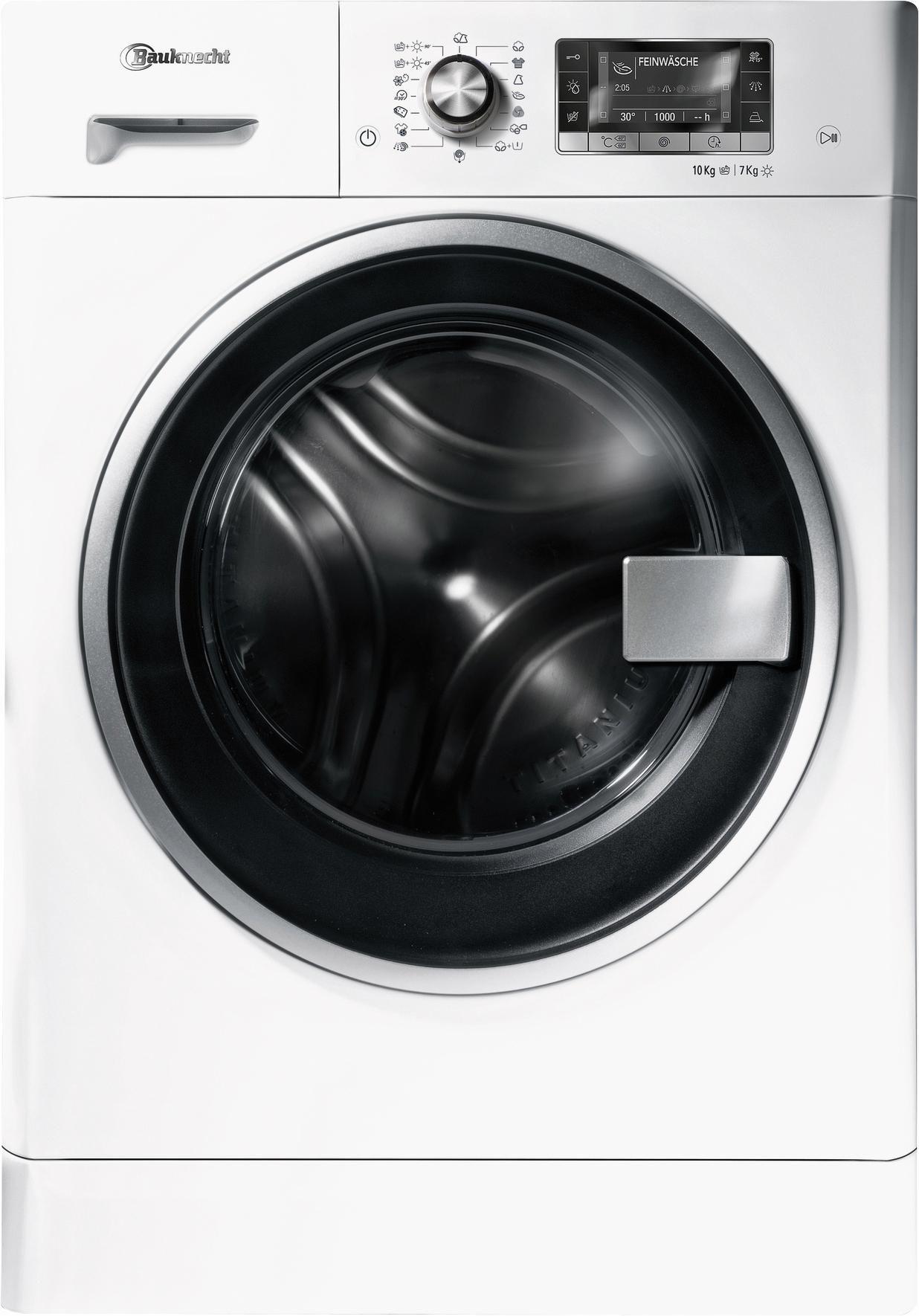 BAUKNECHT  Waschtrockner WATK PRIME 10716, A, 10 kg / 7 kg, 1.600 U/Min