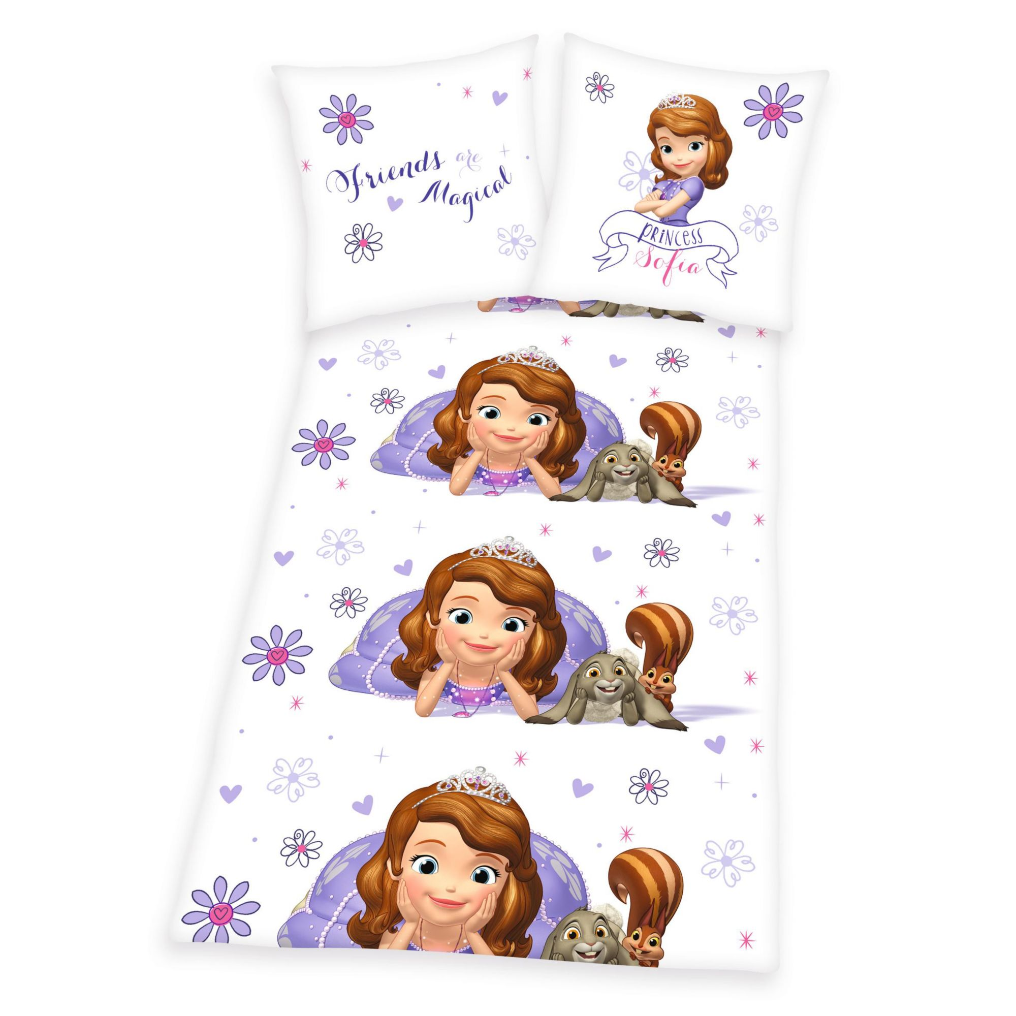 DISNEY Bettwäsche, Disney Sofia die Erste, »Blümchen«, mit Blumen