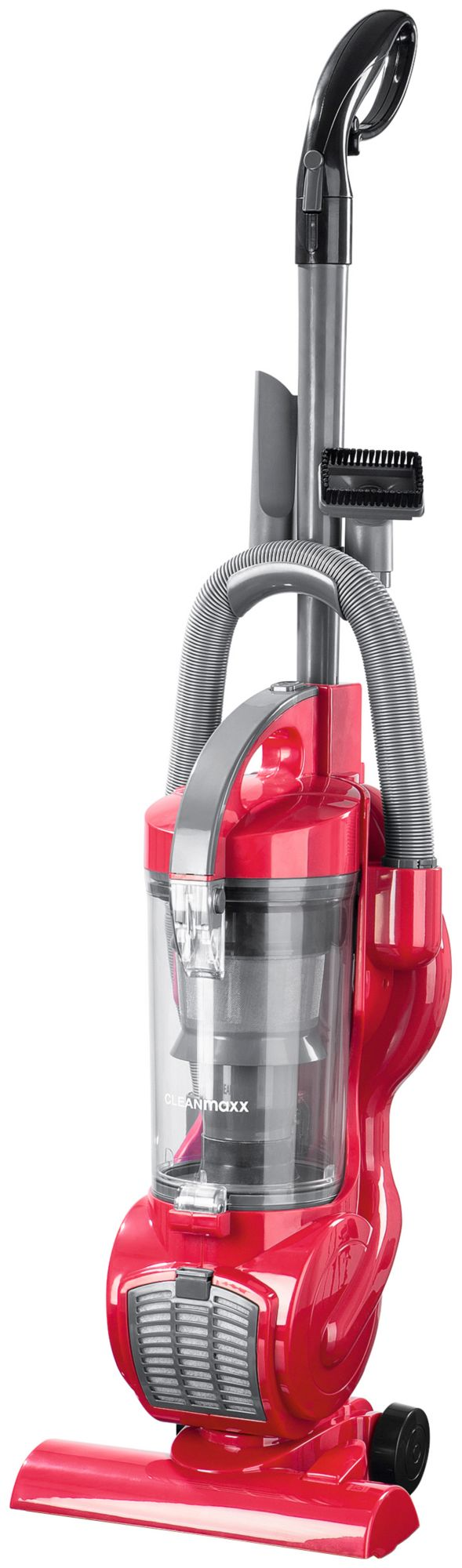 CLEAN MAXX Clean Maxx Zyklon-Staubsauger, beutellos, 800 Watt, Energieklasse A, grau-rot