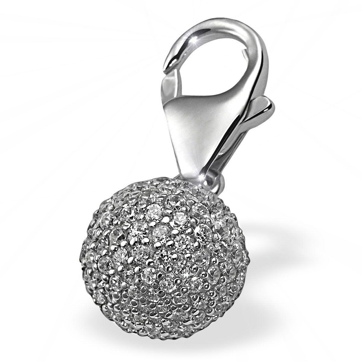 AVERDIN Averdin Charm Silber 925/-  Kugel mit 151 Zirkonia