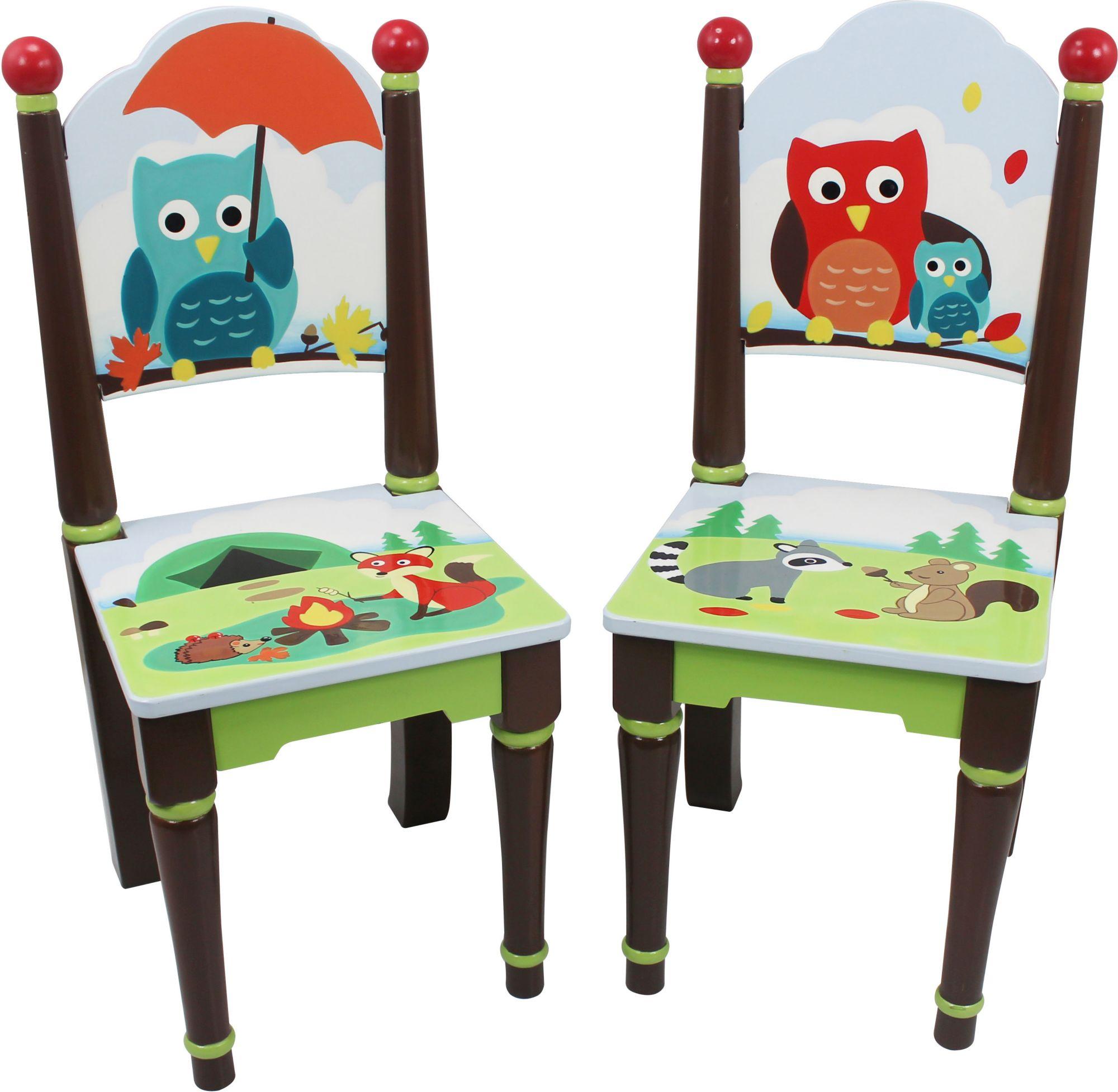 FANTASY FIELDS Fantasy Fields?, 2er Set Stühle mit Handbemalung, »Woodland«