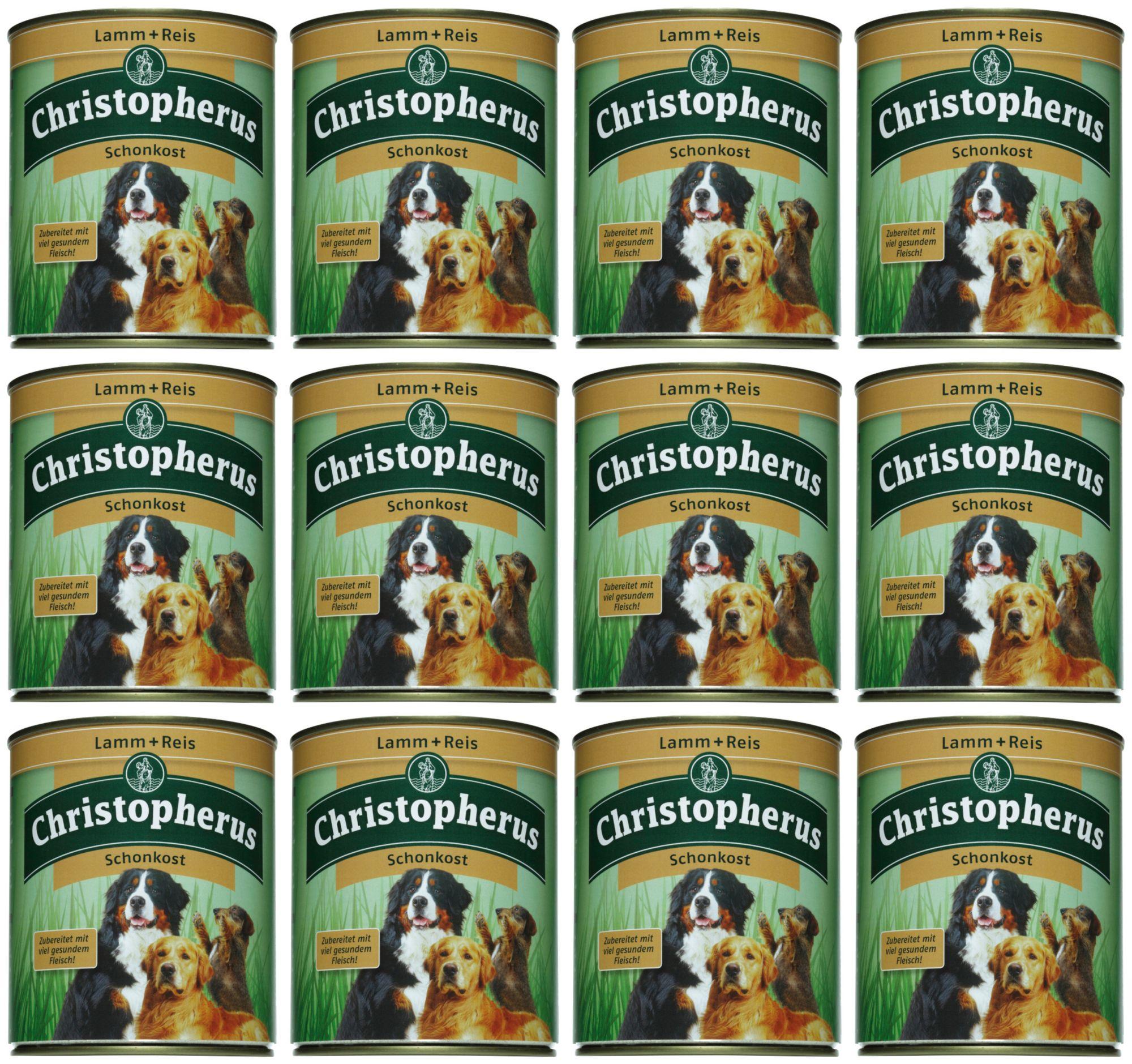 CHRISTOPHERUS Hundenassfutter »Schonkost«, 12 Dosen á 400 g oder 12 Dosen á 800 g