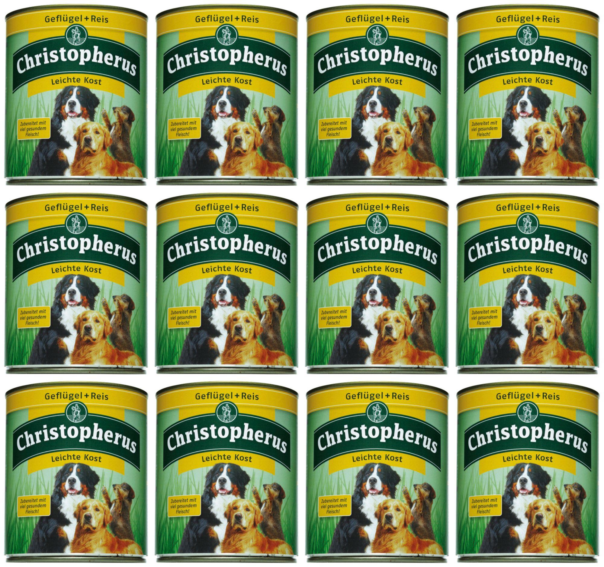 CHRISTOPHERUS Hundenassfutter »Leichte Kost«, 12 Dosen á 400 g oder 12 Dosen á 800 g