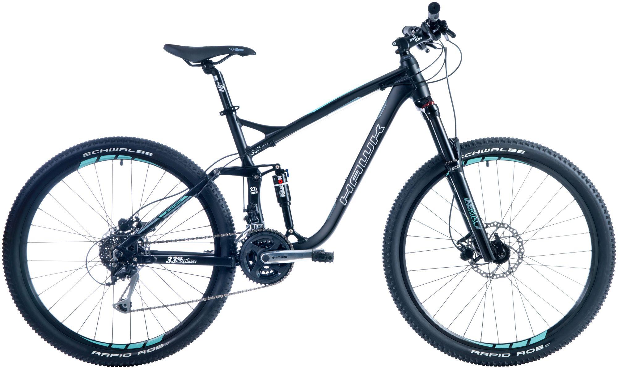 HAWK Hawk Mountainbike »Thirtythree«, RH 40, 27,5 Zoll, 24 Gang, Hydraulische Scheibenbremsen