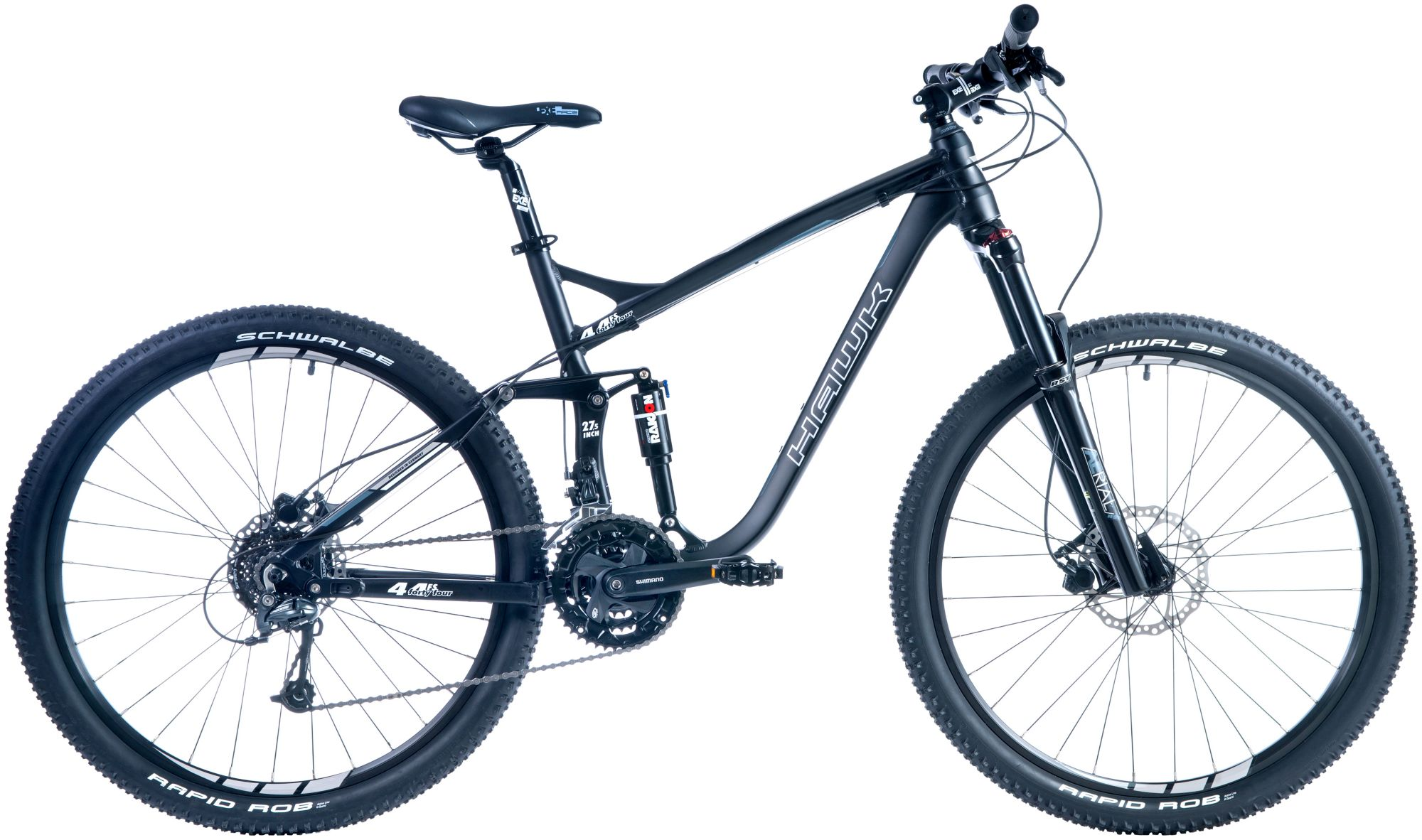 HAWK Hawk Mountainbike »Fourtyfour«, RH 50, 27,5 Zoll, 27 Gang, Hydraulische Scheibenbremsen