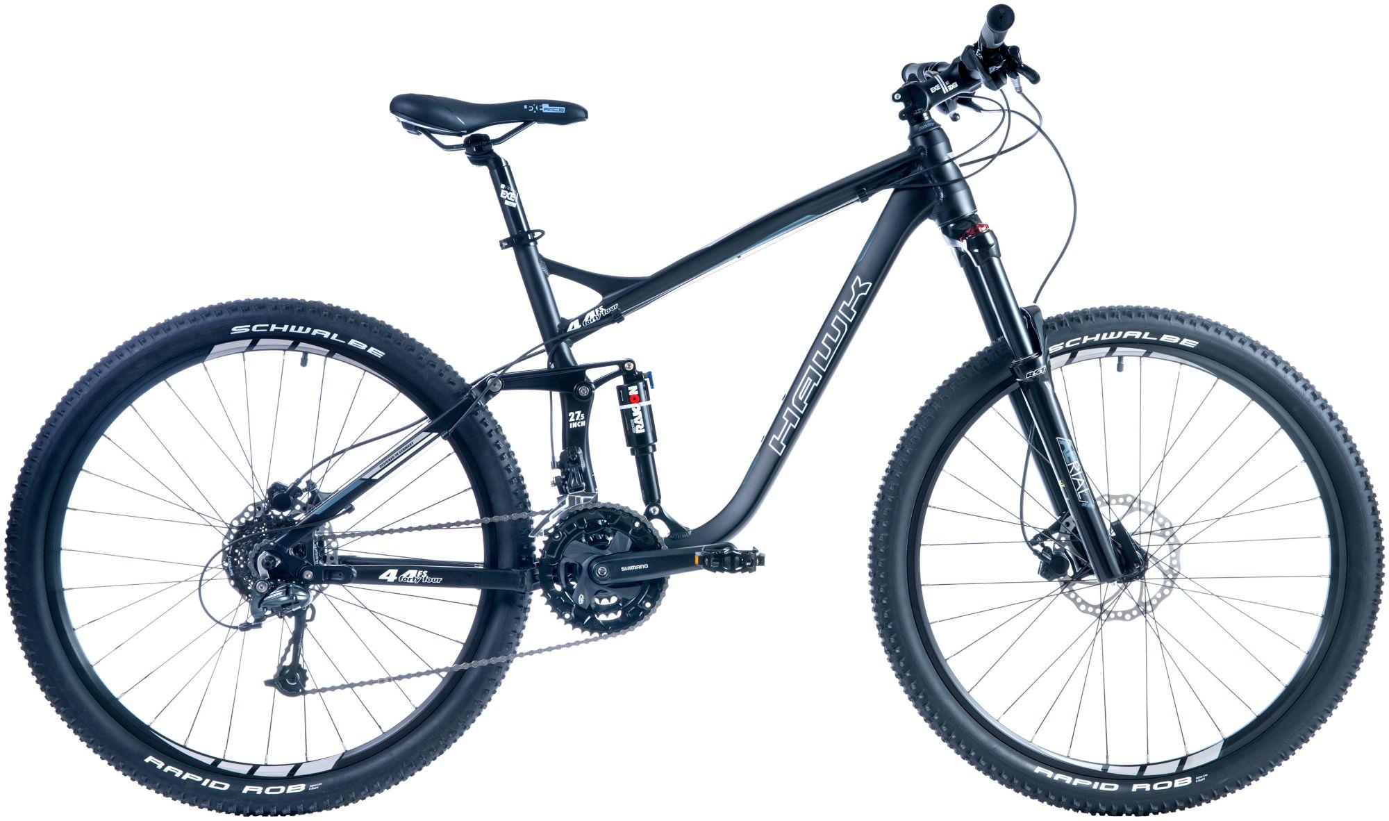 HAWK Hawk Mountainbike »Fourtyfour FS«, RH40, 27,5 Zoll, 27 Gang, Hydraulische Scheibenbremsen