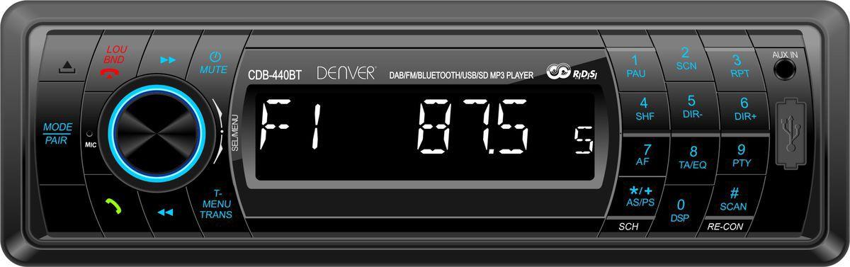 DENVER Denver Autoradio »CDB-440BT m.DAB+, Bluetooth, USB, SDcard, AUX«