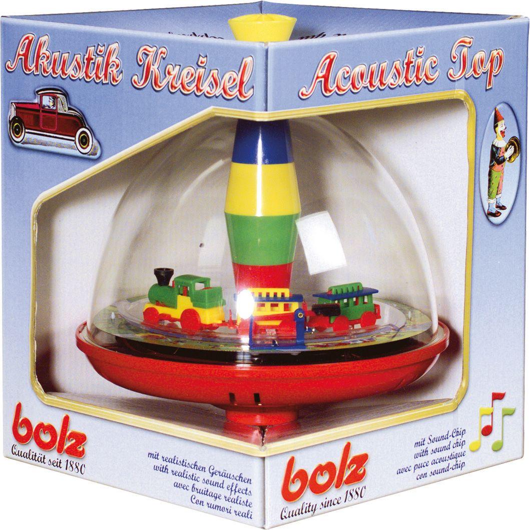BOLZ ® Elektrischer Spielkreisel, »Panoramakreisel Eisenbahn mit Chip«